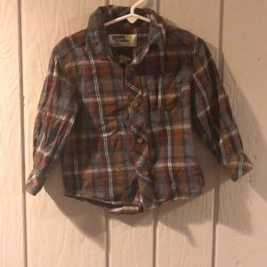 Genuine Kids from Oshkosh Plaid Button Down Shirt